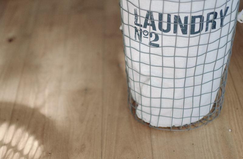 おしゃれなランドリーバスケットがイメージ出来る画像