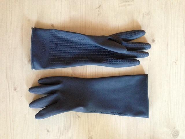 ゴム手袋の参考画像