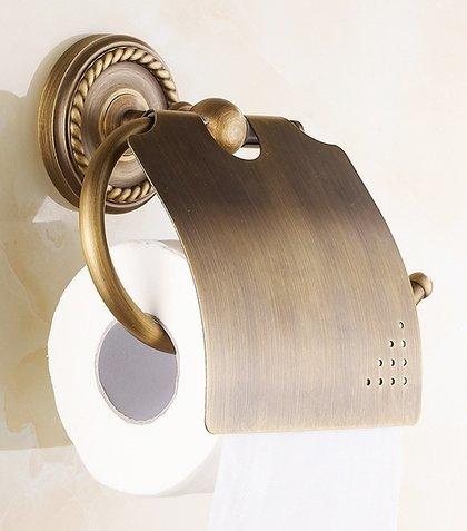真鍮・陶器製のトイレットペーパーホルダー