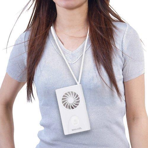 首かけタイプの携帯扇風機