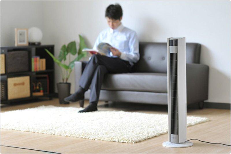 スリム扇風機の高さを説明する画像