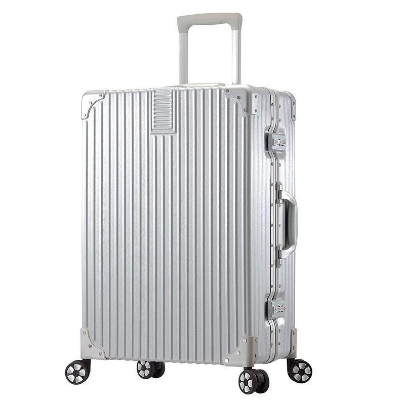 安いアルミ調スーツケースの画像