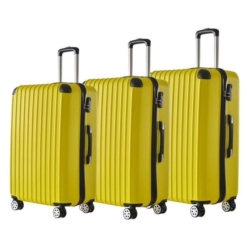 サイズ別のスーツケースが並ぶ画像