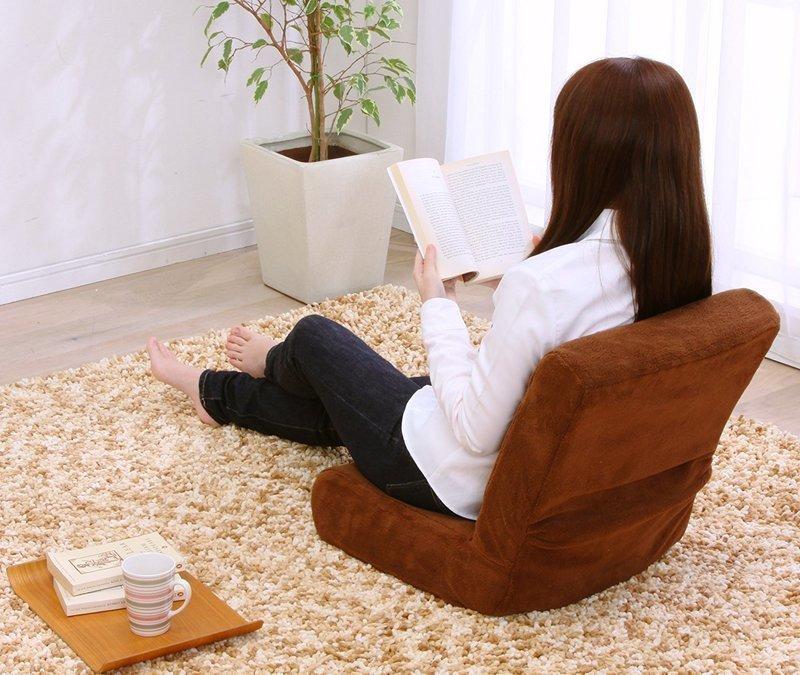 座椅子の背もたれ部分の大きさが分かる画像