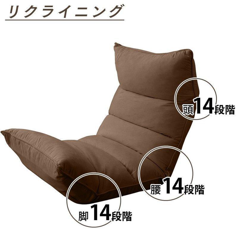 リクラニング機能が充実した座椅子の画像
