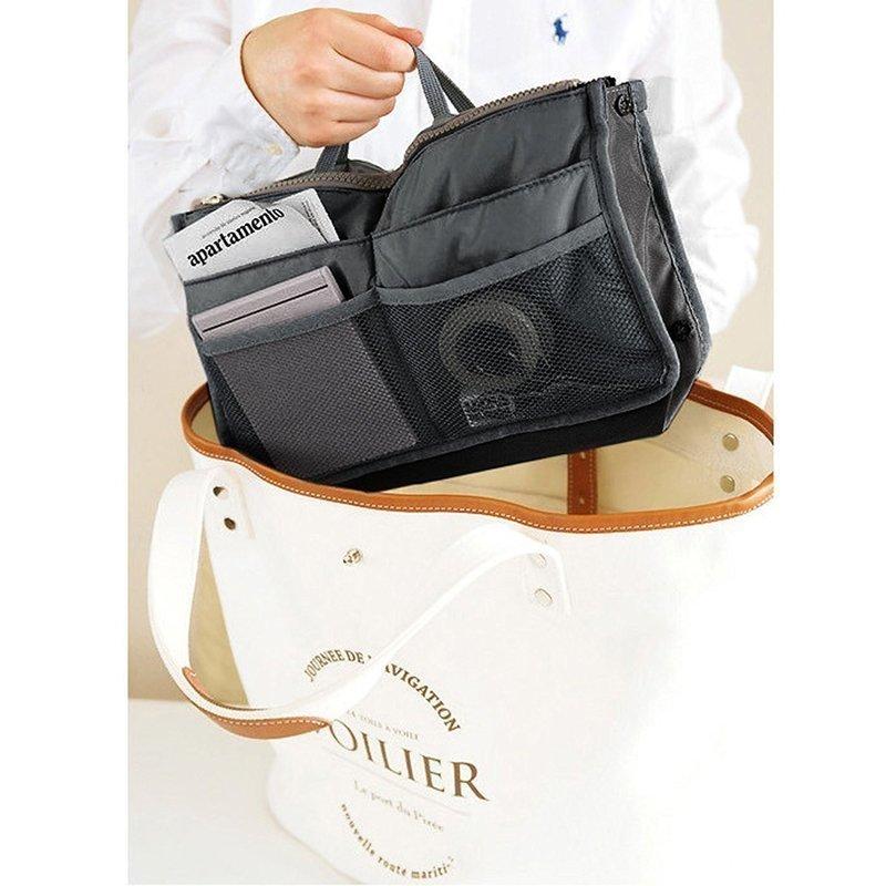 トートバッグに便利なファスナー付きバッグインバッグ