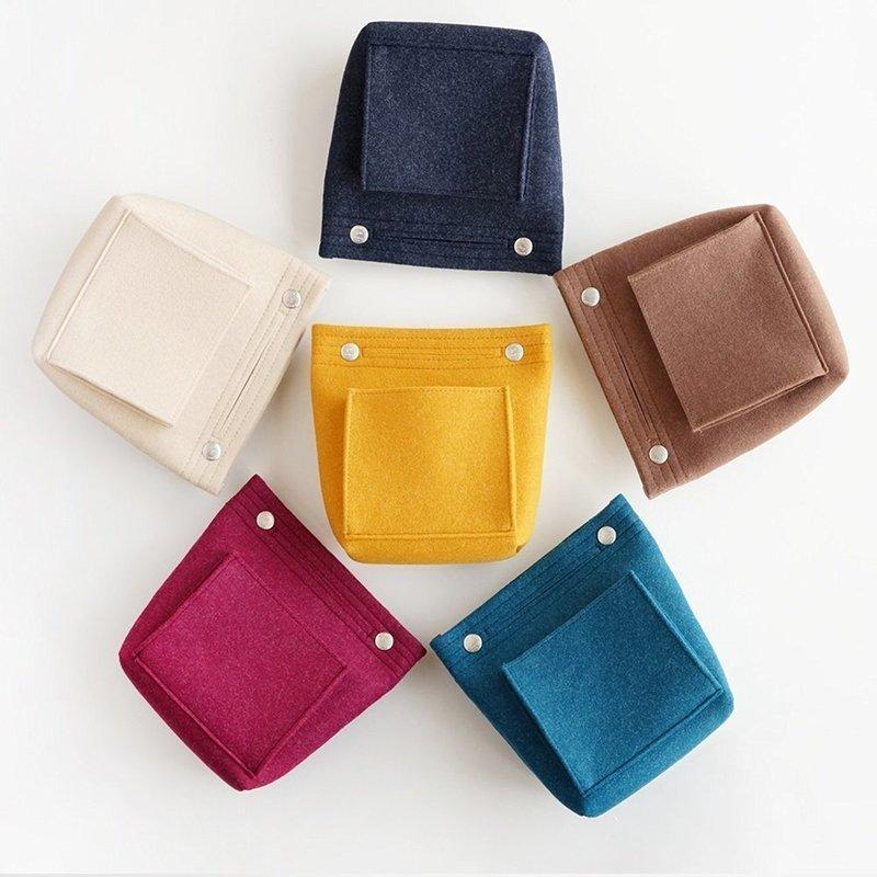 色とりどりなカラーがおしゃれなバッグインバッグ