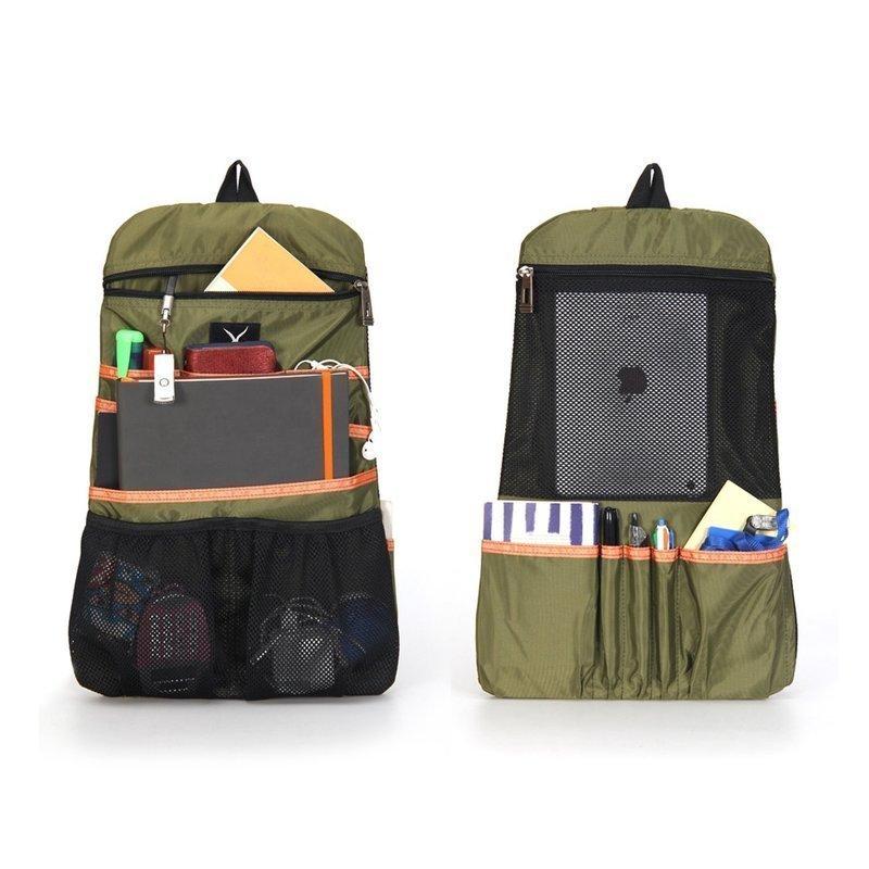 ポケットの数が豊富にある縦型バッグインバッグ