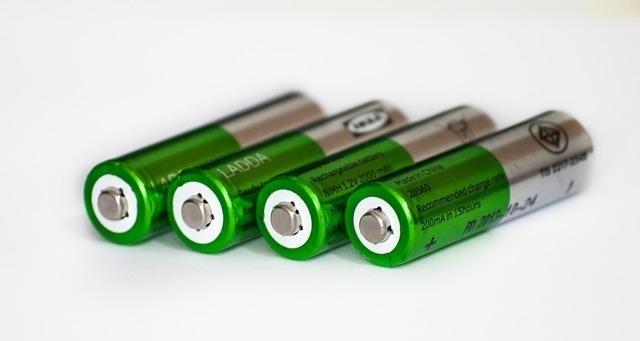 綺麗に並べられた乾電池