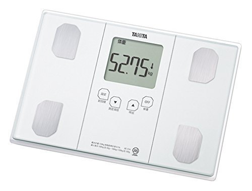 50g単位で体重測定できる体組成計