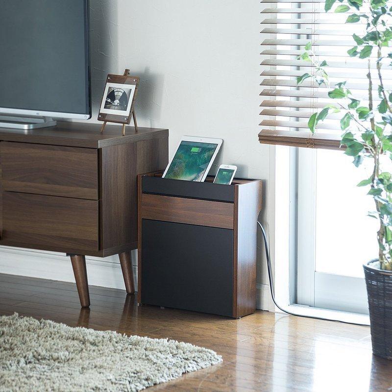 部屋の雰囲気にマッチしたデザインのケーブルボックス