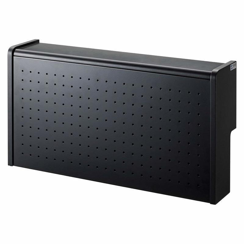 ケーブル&タップ収納ボックス 2段タイプ CB-BOXS6BKNの1つ目の商品画像
