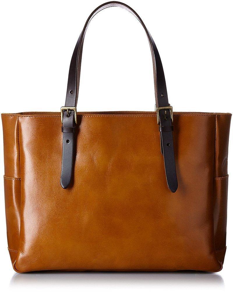 天然皮革のトートバッグ