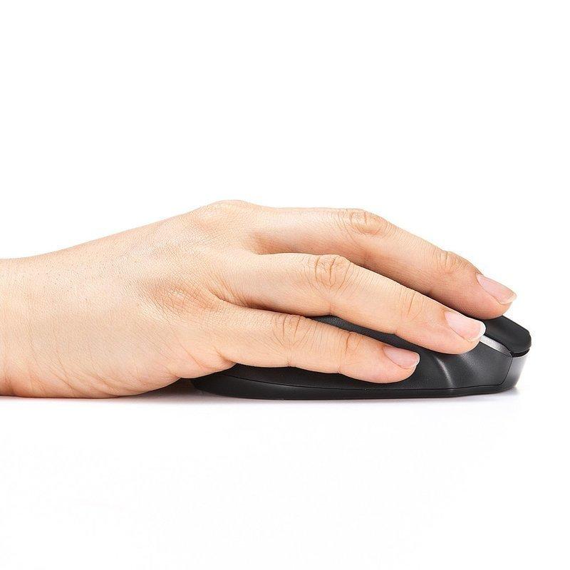 手にフィットしているワイヤレスマウス