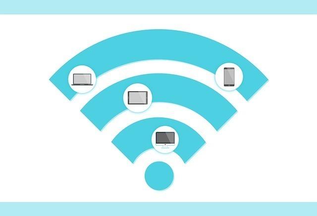 様々な端末が無線接続しているイメージ画像