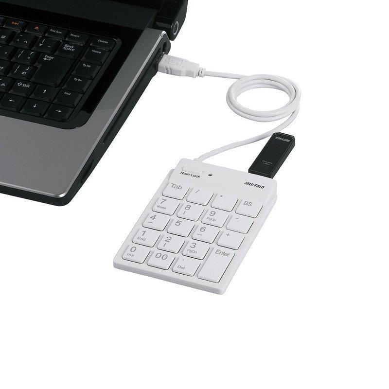 有線タイプのテンキーボード