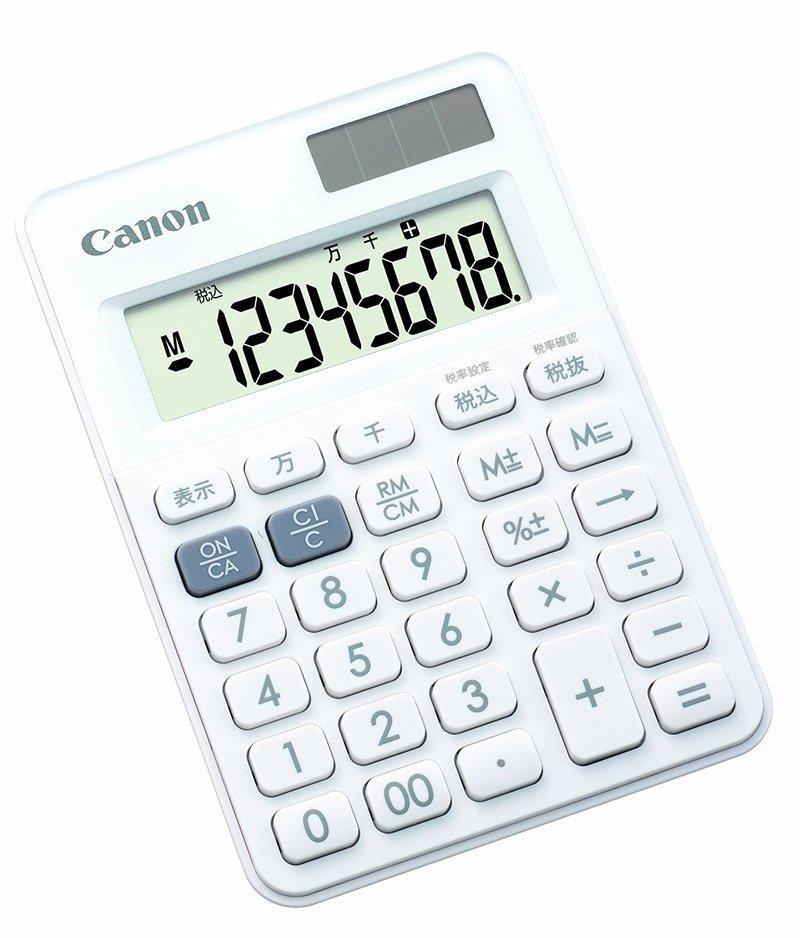キャノンのシンプルな電卓