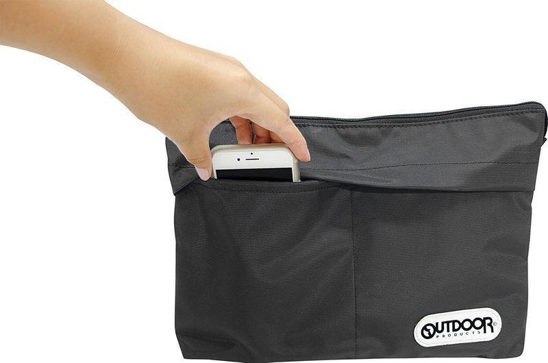 外ポケットのあるサコッシュバッグ