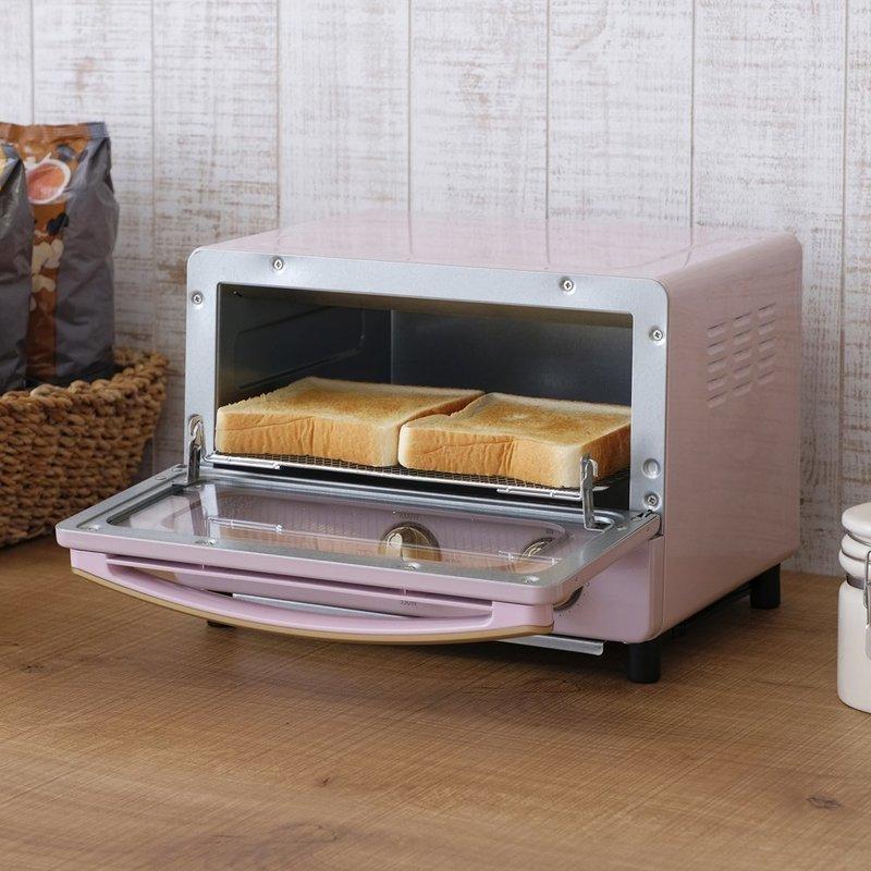 可愛いピンクカラーのオーブントースター