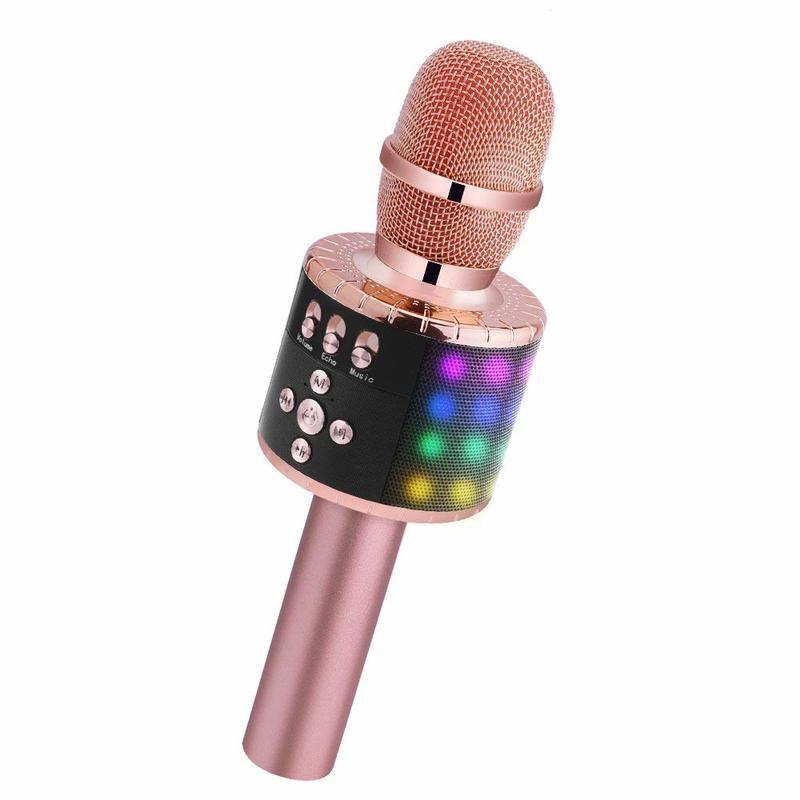 LEDライト付きBluetoothカラオケマイク の1つ目の商品画像