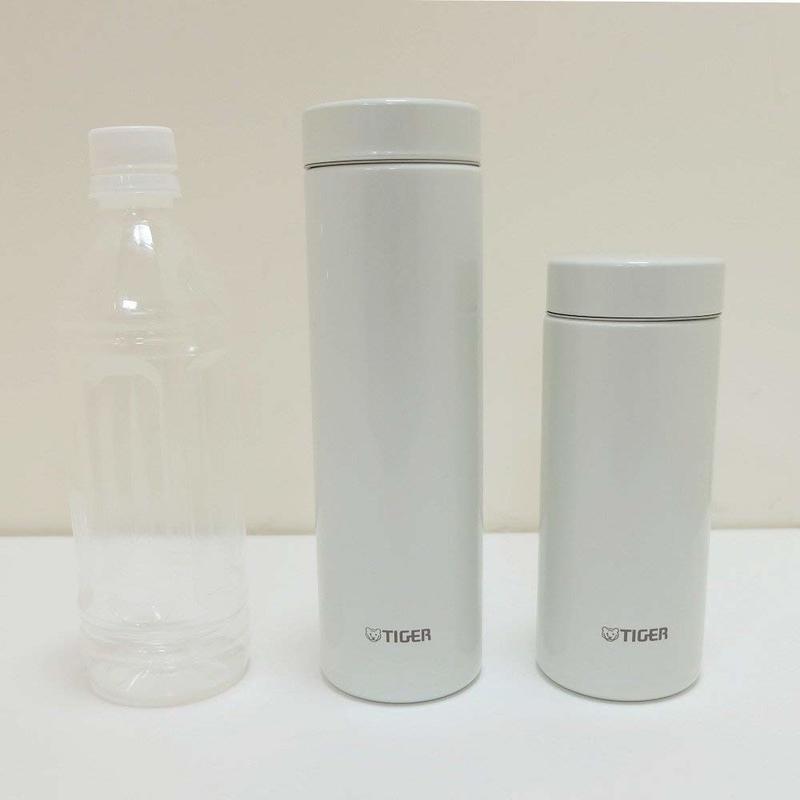 500mlペットボトルと水筒のサイズ比較