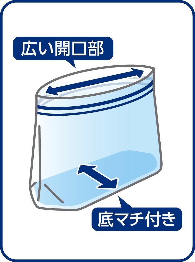 キチントさん マチ付きフリーザーバッグ の2つ目の商品画像