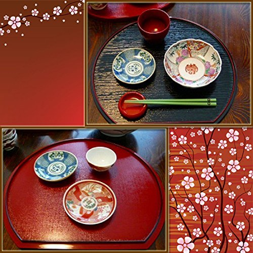 紀州塗り 半月両面膳 の2つ目の商品画像