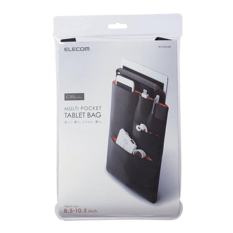 縦型タブレットケース マルチポケット付 TB-10CELLBKの2つ目の商品画像