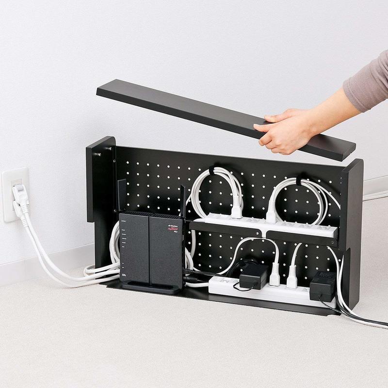 ケーブル&タップ収納ボックス 2段タイプ CB-BOXS6BKNの2つ目の商品画像