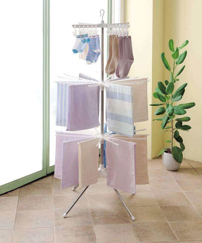 PORISH 組立式スタンド物干し パラソル型3段 の2つ目の商品画像
