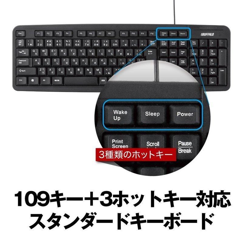 USB接続 有線スタンダードキーボード BSKBU18BK/N の2つ目の商品画像