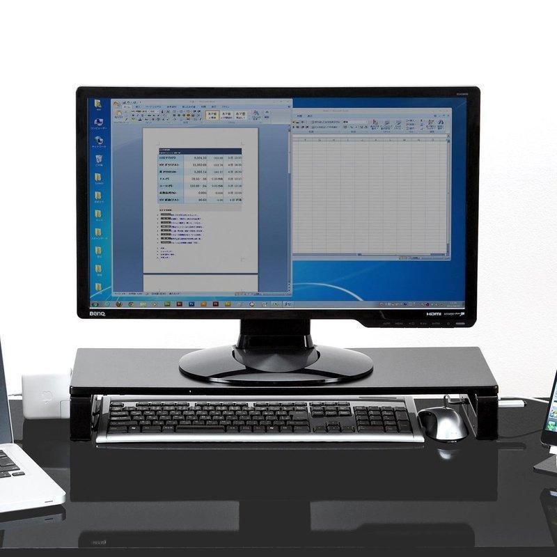 USBポート&電源タップ付きモニター台 100-MR039の2つ目の商品画像