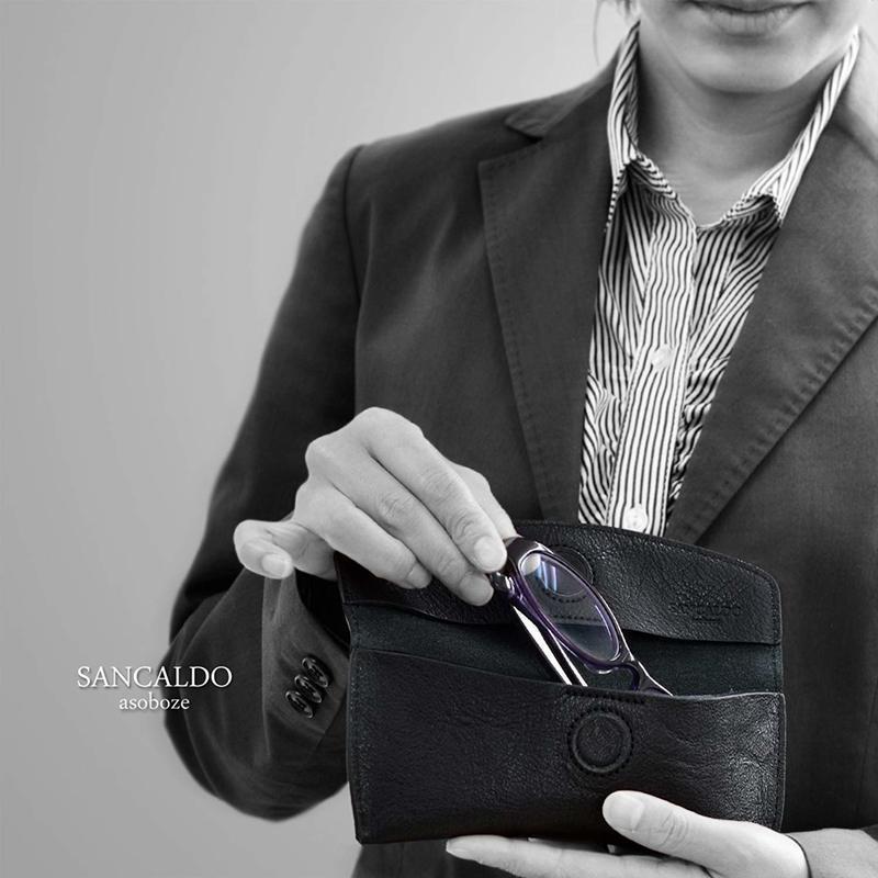 SANCALDO(サンカルド) レザーメガネケース SA-F001の2つ目の商品画像