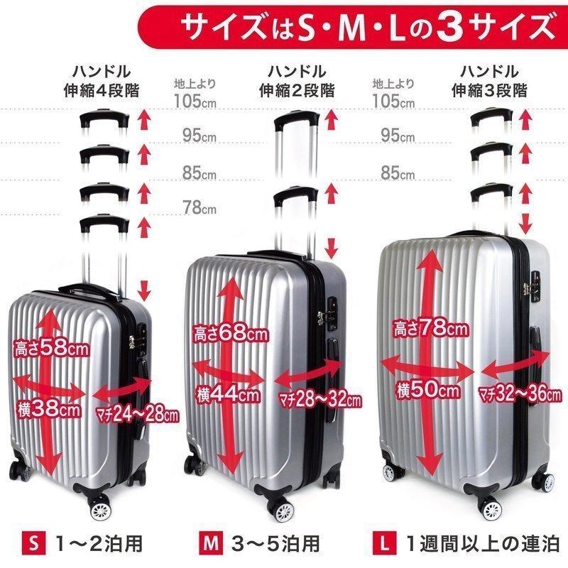 拡張ファスナー付スーツケース の3つ目の商品画像