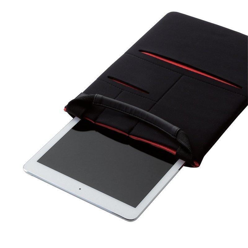 縦型タブレットケース マルチポケット付 TB-10CELLBKの3つ目の商品画像
