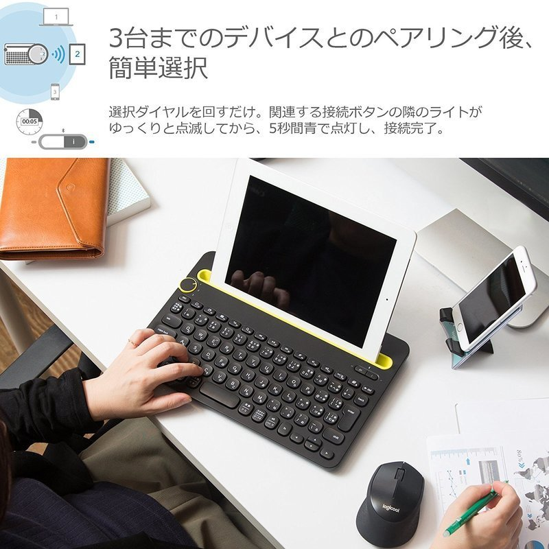 Bluetooth ワイヤレス キーボード K480の3つ目の商品画像