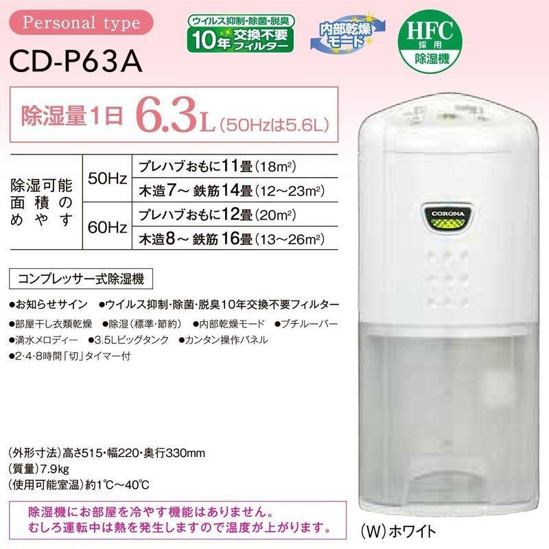 衣類乾燥除湿機 CD-P63Aの3つ目の商品画像